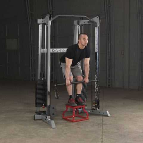 Image of Body-Solid GDCC210 Compact Functional Training Center Squat with Stool