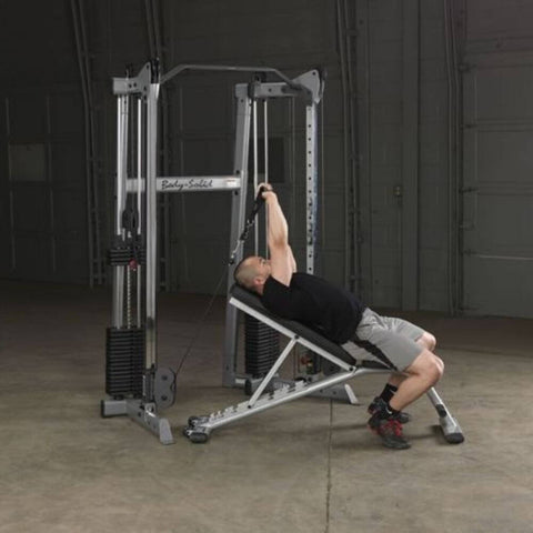 Image of Body-Solid GDCC210 Compact Functional Training Center With Inclined Bench