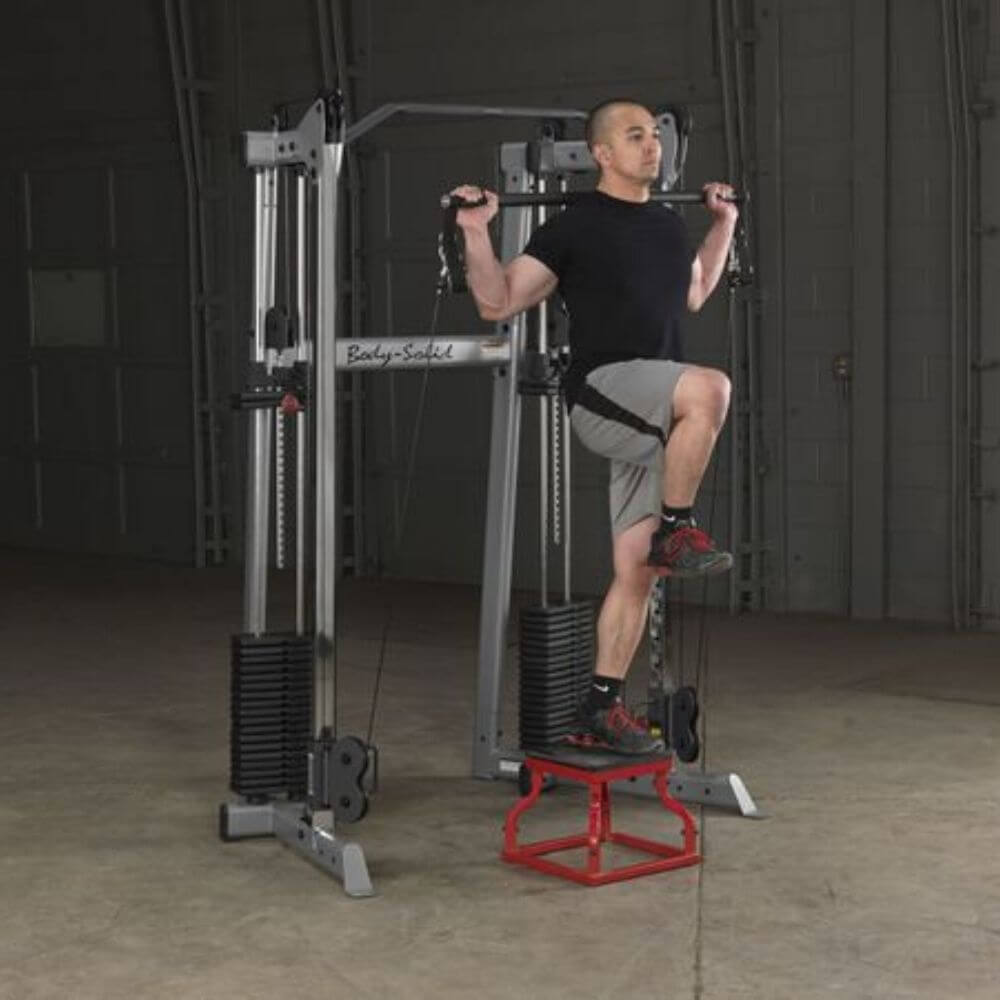 Body-Solid GDCC210 Compact Functional Training Center With Stool And Press