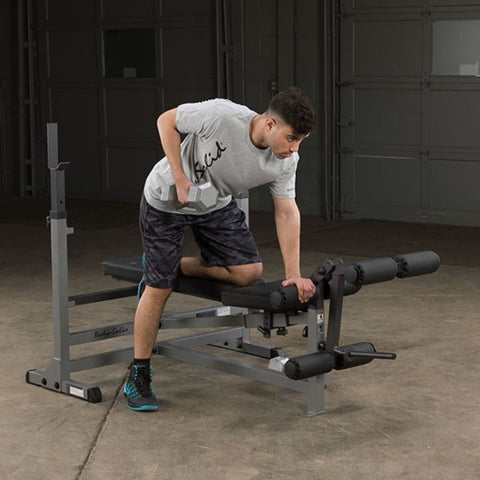 Image of Body-Solid GDIB46L PowerCenter Rack Bench Combo Exercise Figure 4