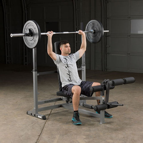 Image of Body-Solid GDIB46L PowerCenter Rack Bench Combo Exercise Figure 5