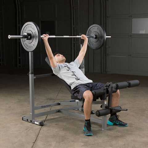Image of Body-Solid GDIB46L PowerCenter Rack Bench Combo Exercise Figure 7