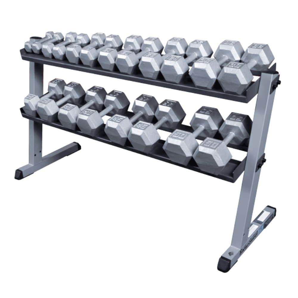 Body-Solid GDR60 Pro Dumbbell Rack 3D View With RFHEX