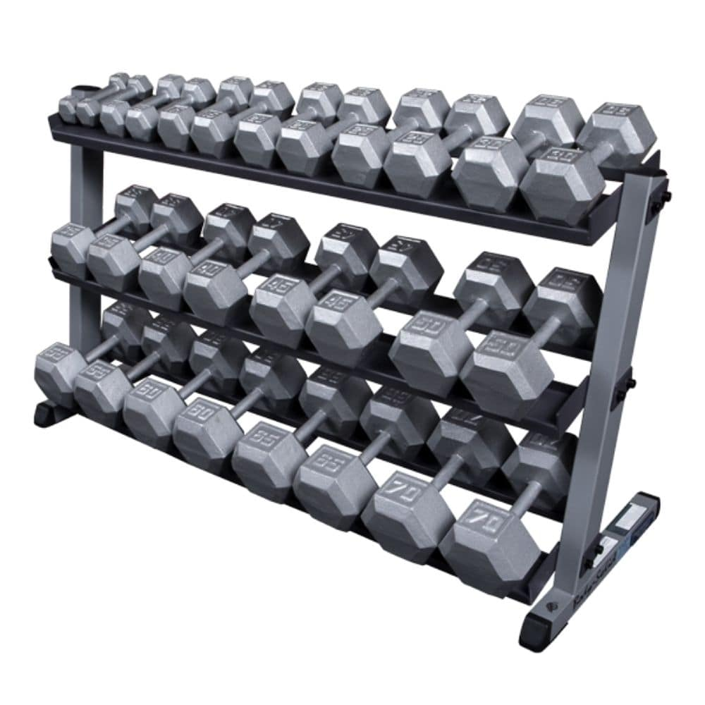 Body-Solid GDR60 Pro Dumbbell Rack With Optional Tray And SDXS