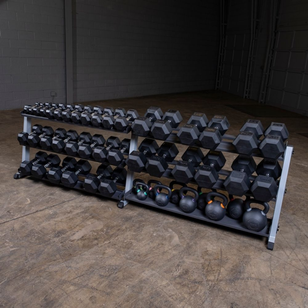 Body-Solid GDR60 Pro Dumbbell Rack With Optional Tray Assorted