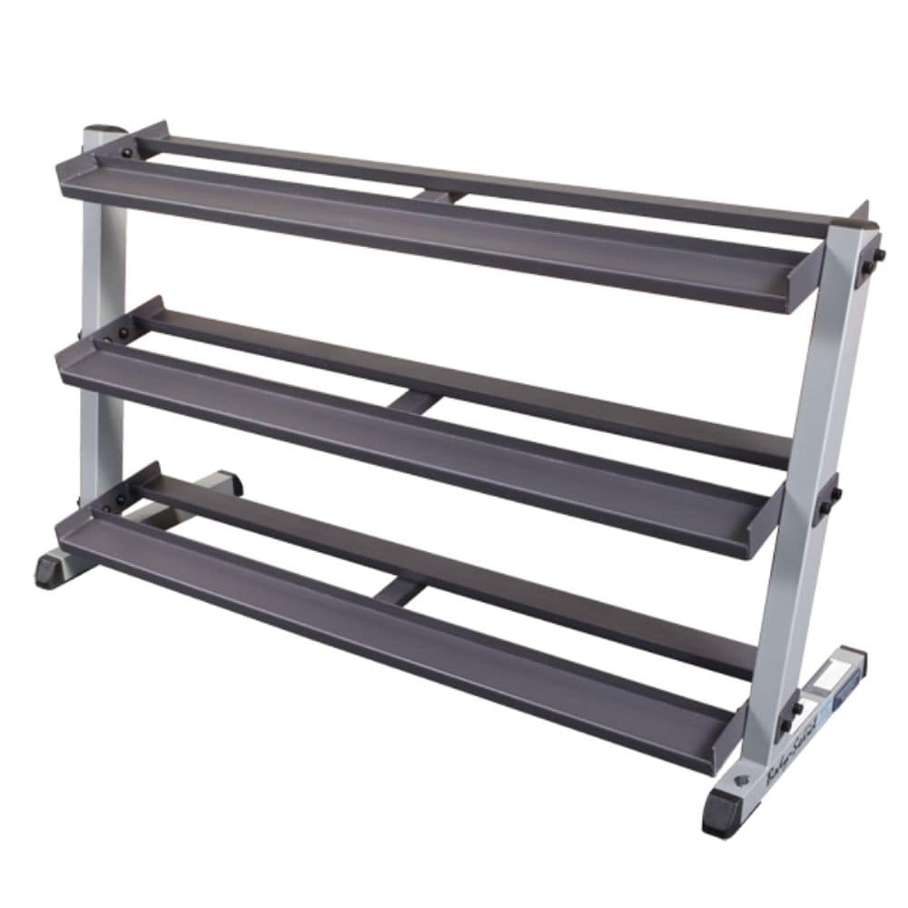Body-Solid GDR60 Pro Dumbbell Rack With Optional Tray Empty