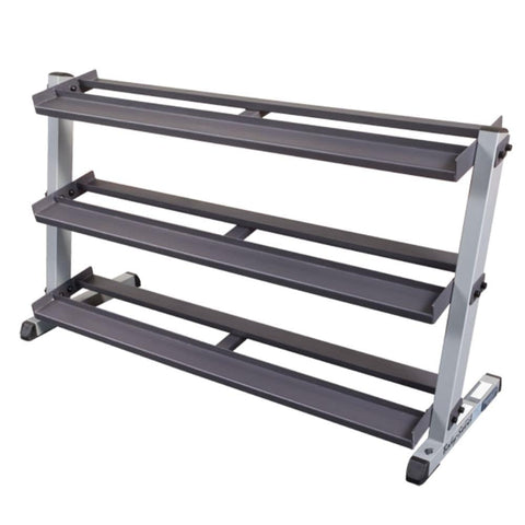 Image of Body-Solid GDR60 Pro Dumbbell Rack With Optional Tray Empty