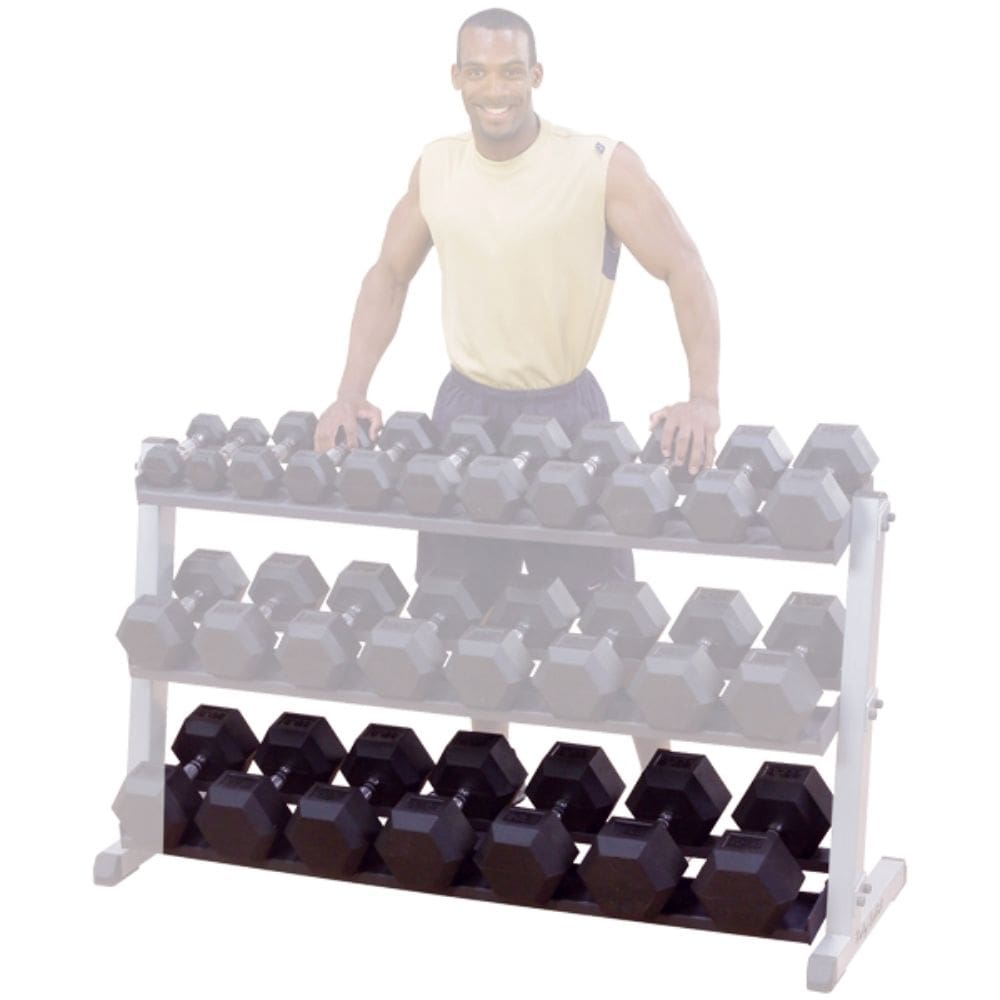 Body-Solid GDRT6 Optional Dumbbell Shelf 3D View