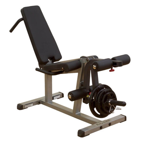 Body-Solid GLCE365 Seated Leg Extension & Supine Curl 3D View With Plates