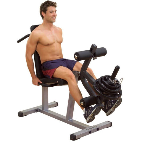 Image of Body-Solid GLCE365 Seated Leg Extension & Supine Curl Leg Extension With Plates