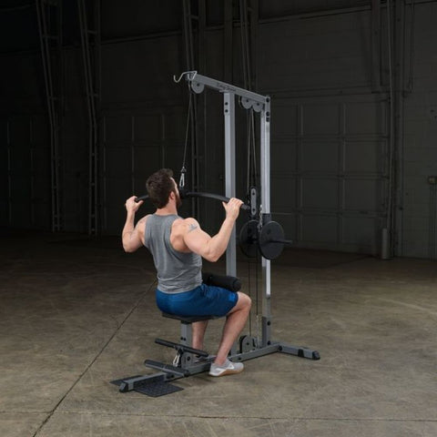 Image of Body-Solid GLM83 Pro Lat Pulldown Low Row Machine Exercise Figure 11