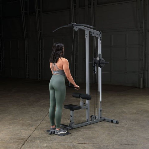 Body-Solid GLM83 Pro Lat Pulldown Low Row Machine Exercise Figure 3