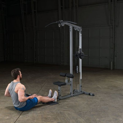 Image of Body-Solid GLM83 Pro Lat Pulldown Low Row Machine Exercise Figure 5