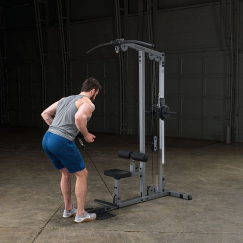 Image of Body-Solid GLM83 Pro Lat Pulldown Low Row Machine Exercise Figure 6