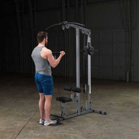 Image of Body-Solid GLM83 Pro Lat Pulldown Low Row Machine Exercise Figure 7
