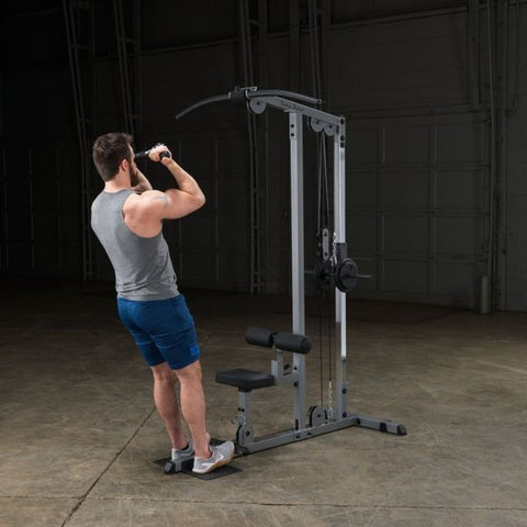Image of Body-Solid GLM83 Pro Lat Pulldown Low Row Machine Exercise Figure 8