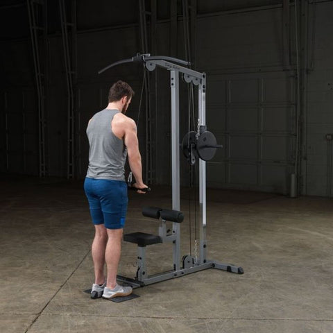 Image of Body-Solid GLM83 Pro Lat Pulldown Low Row Machine Exercise Figure 9