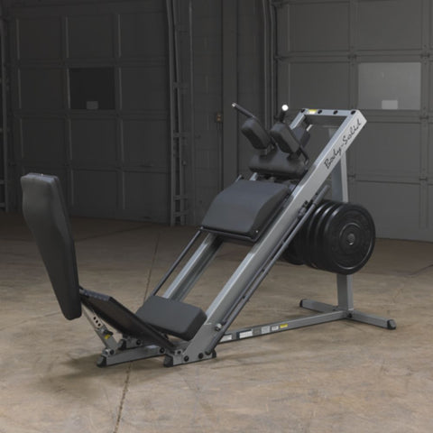 Body-Solid GLPH1100 Leg Press & Hack Squat Front Side View Extended