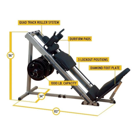 Image of Body-Solid GLPH1100 Leg Press & Hack Squat Tech Specs