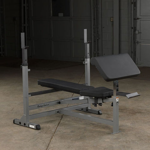Body-Solid GPCA1 Preacher Curl Station Attached To Flat Bench