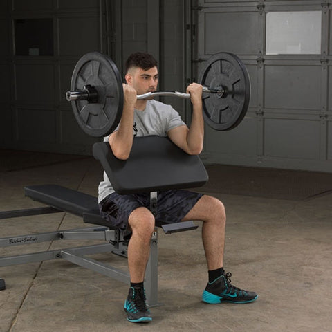 Body-Solid GPCA1 Preacher Curl Station Exercise Figure 2