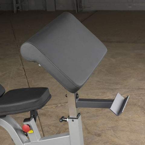 Body-Solid GPCA1 Preacher Curl Station Front View Close Up