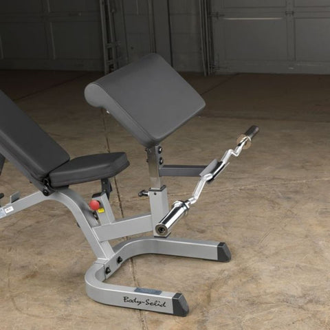 Body-Solid GPCA1 Preacher Curl Station Front View