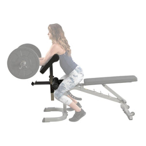 Body-Solid GPCA1 Preacher Curl Station Side View Fade