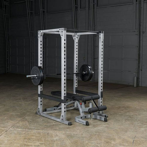 Image of Body-Solid GPR378 Pro Power Rack 3D View With Bench