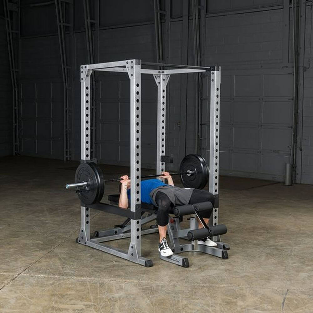 Body-Solid GPR378 Pro Power Rack Flat Bench
