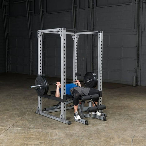 Image of Body-Solid GPR378 Pro Power Rack Flat Bench