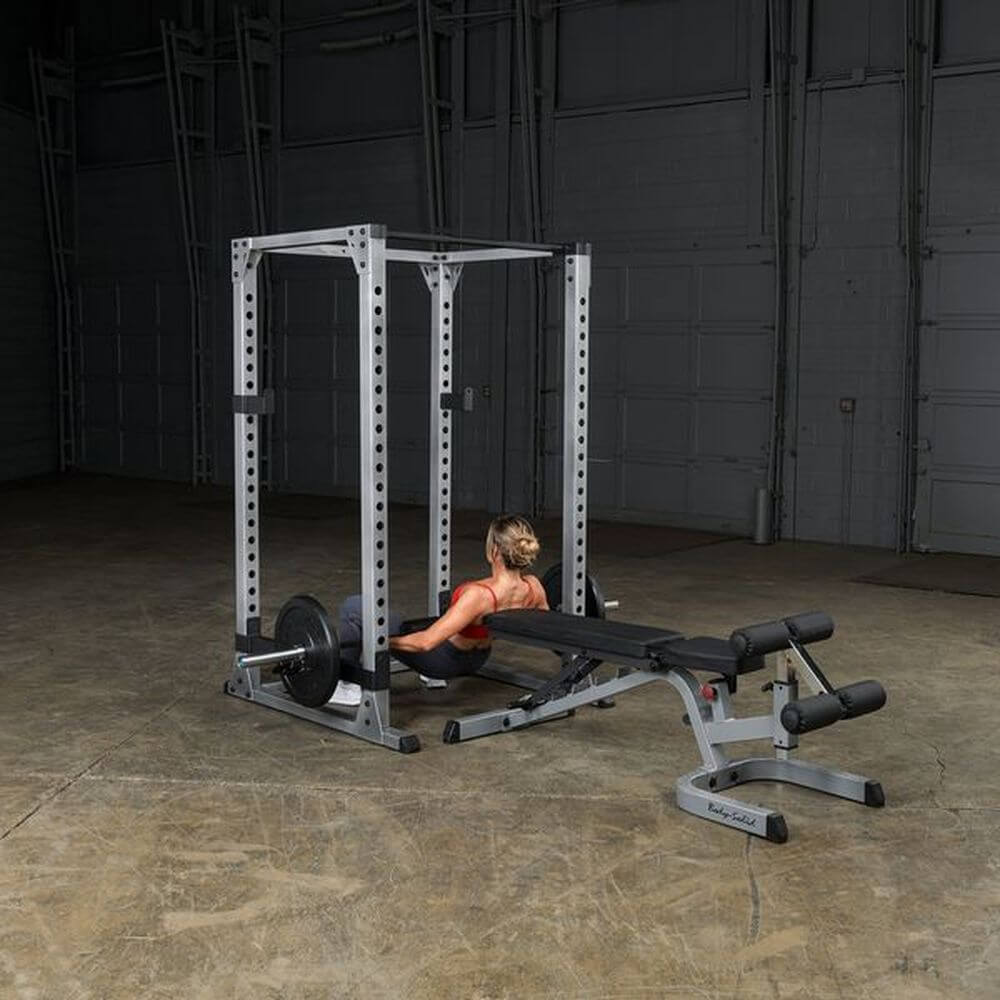 Body-Solid GPR378 Pro Power Rack Low Decline Bench