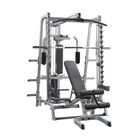Image of Body-Solid GS348QP4 Series 7 Smith Machine Gym 3D View