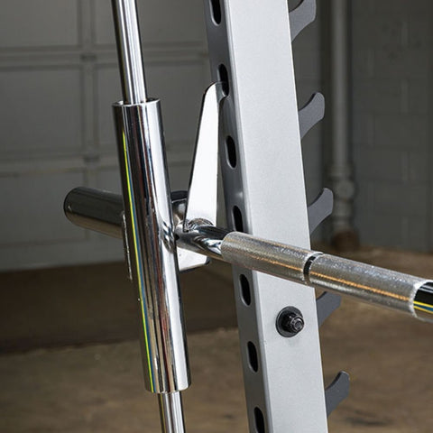 Body-Solid GS348QP4 Series 7 Smith Machine Gym Bar Holder Close Up