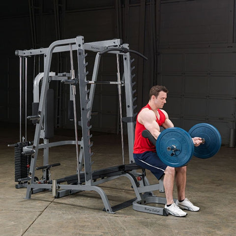 Image of Body-Solid GS348QP4 Series 7 Smith Machine Gym Exercise Figure 1