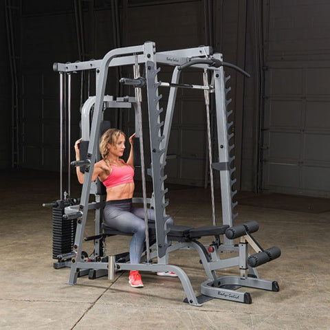 Image of Body-Solid GS348QP4 Series 7 Smith Machine Gym Exercise Figure 8