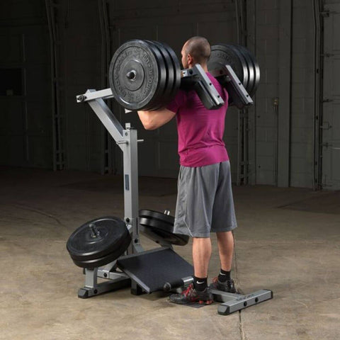 Body-Solid GSCL360 Leverage Squat Calf Machine Standing