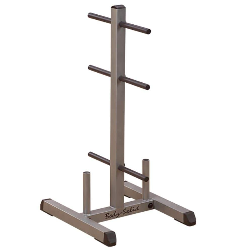 Body-Solid GSWT Standard Plate Tree & Bar Holder 3D View
