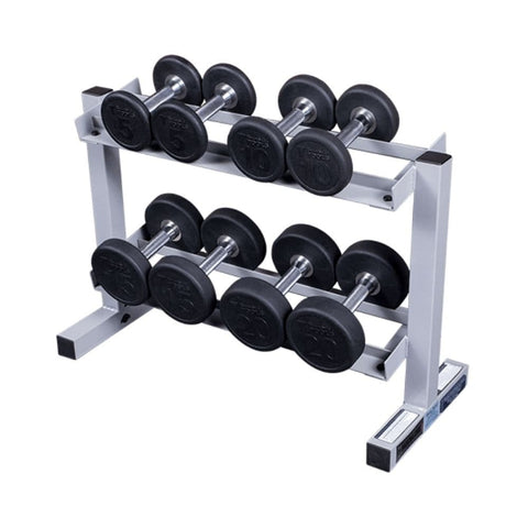 Body-Solid Powerline PDR282X Two Tier Dumbbell Rack With Round DBs