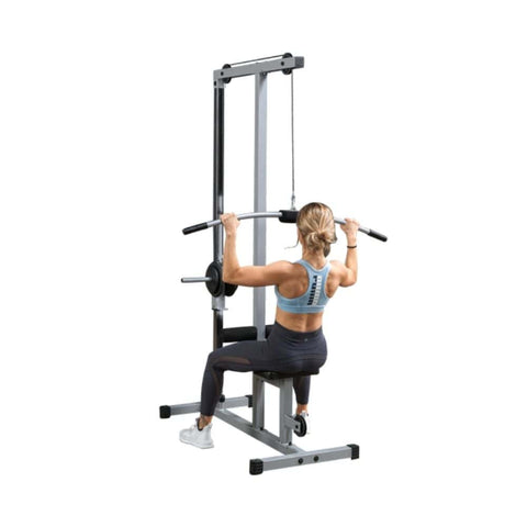 Body-Solid Powerline PLM180X Lat Pull Low Row Machine 3D View