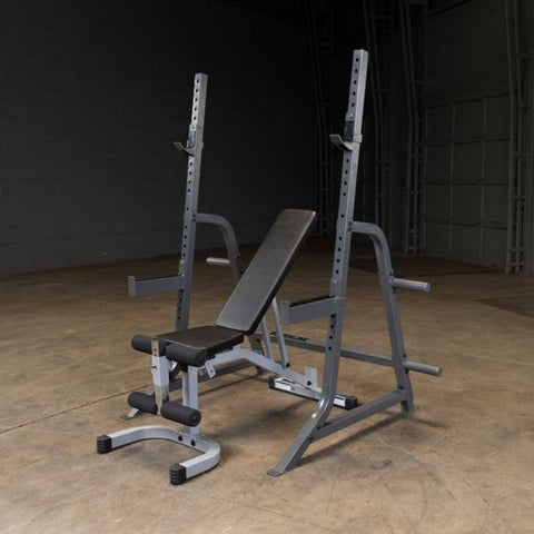 Body-Solid Powerline PMP150 Multi Press Rack Top Front Side View