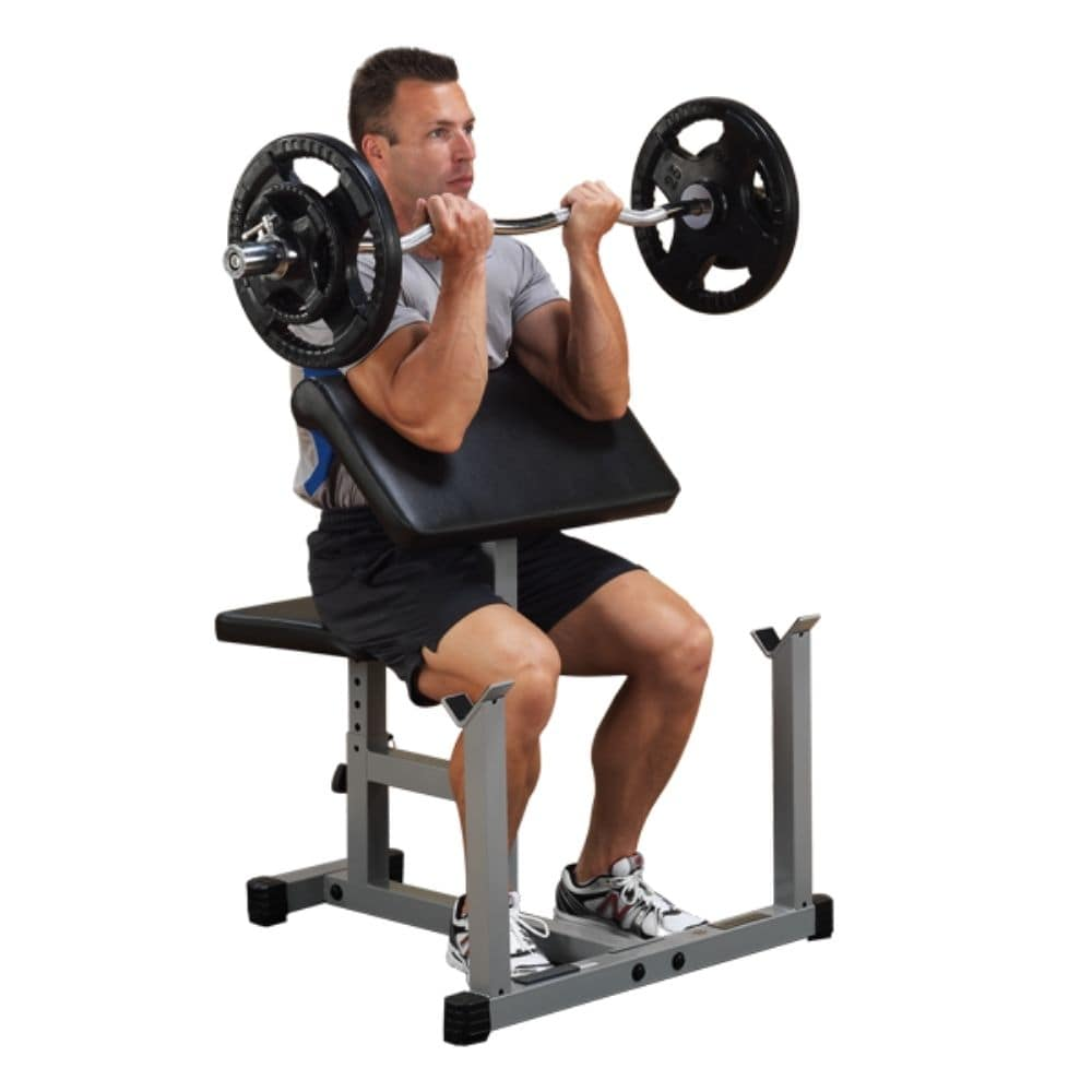 Body-Solid Powerline PPB32X Preacher Curl Bench 3D View With Model