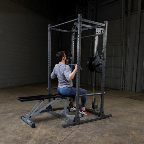 Image of Body-Solid Powerline PPR1000 Power Rack Lat Pull Down