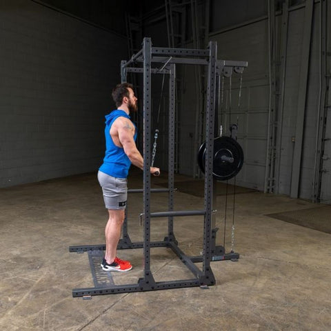 Image of Body-Solid Powerline PPR500 Half Rack Exercise Figure 11