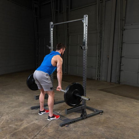 Image of Body-Solid Powerline PPR500 Half Rack Exercise Figure 3