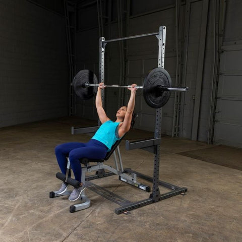 Image of Body-Solid Powerline PPR500 Half Rack Exercise Figure 6