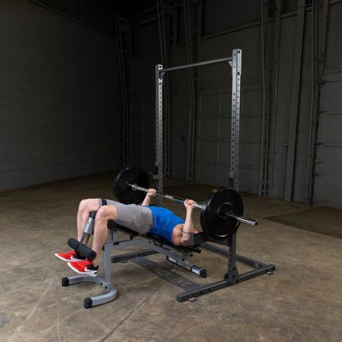 Image of Body-Solid Powerline PPR500 Half Rack Exercise Figure 7