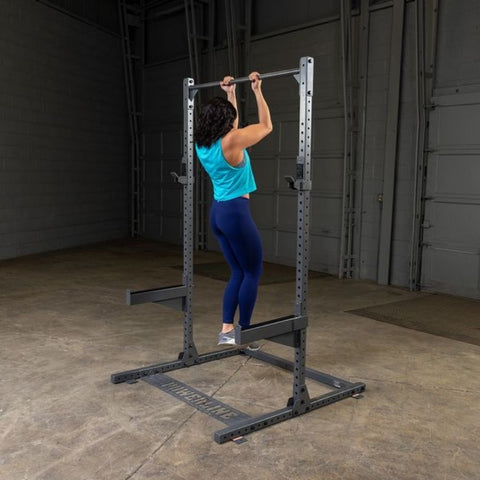 Image of Body-Solid Powerline PPR500 Half Rack Exercise Figure 8