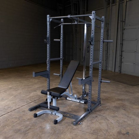 Body-Solid Powerline PPR500 Half Rack With Extension And Bench