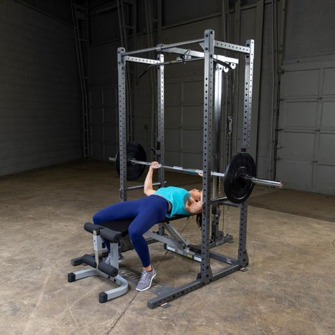 Image of Body-Solid Powerline PPR500 Half Rack exercise Figure 1